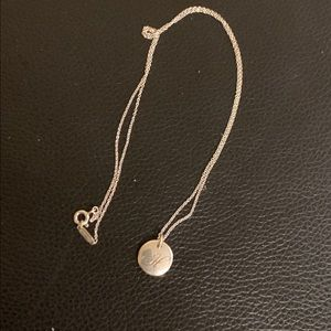 """Tiffany & Co sterling silver initial necklace """"H"""""""